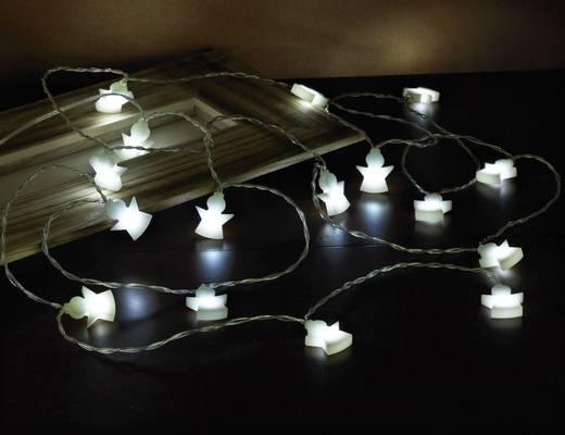 Motiv-Lichterkette Engel Innen batteriebetrieben 16 LED Kalt-Weiß Beleuchtete Länge: 3 m Polarlite LBA-03-002