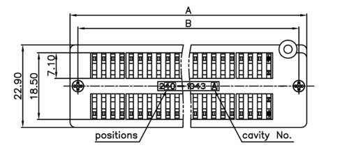 IC-Testsockel Rastermaß: 15.24 mm Polzahl: 40 ZIF40GB 1 St.