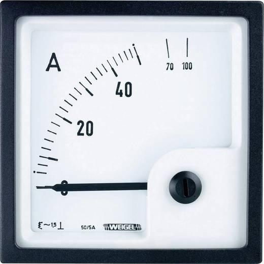 Weigel EQ96K 50/5A Schalttafel-Einbauinstrument mit Dreheisenmesswerk 50 A/AC (5 A) Dreheisen