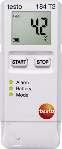 Temperatur-Datenlogger testo 184 T2 Messgröße Temperatur -35 bis 70 °C Kalibriert nach Werksstandard (ohne Zerti