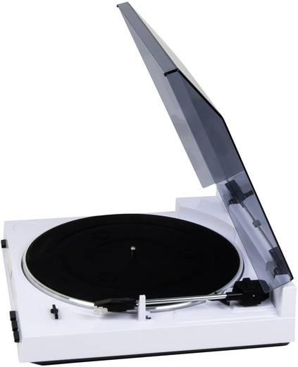 USB-Plattenspieler Dual DT 210 weiß Riemenantrieb Weiß