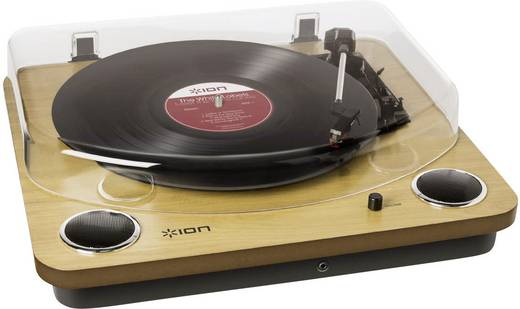 ION Audio Max LP USB-Plattenspieler Riemenantrieb Holz