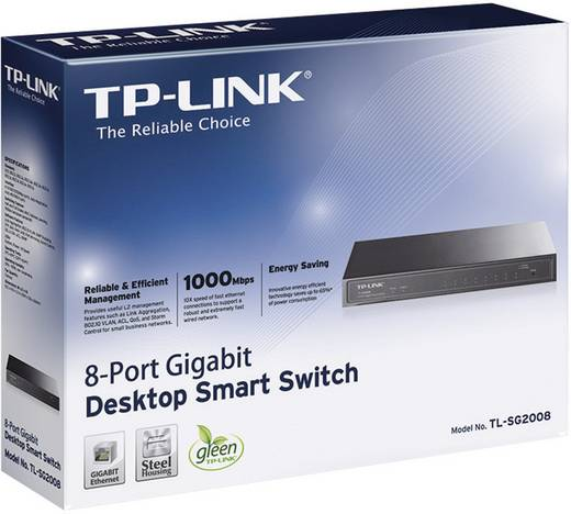Netzwerk Switch RJ45 TP-LINK TL-SG2008 8 Port 1 Gbit/s