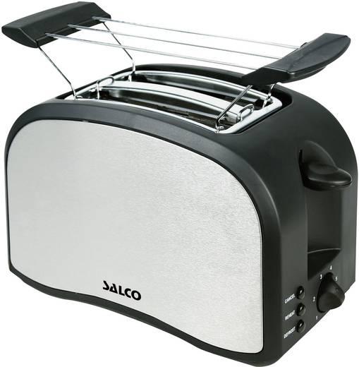 Toaster mit Brötchenaufsatz Salco MT-800 Edelstahl, Schwarz