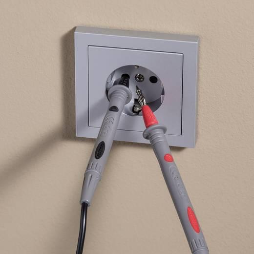Sicherheits-Messleitungs-Set [Lamellenstecker 4 mm - Prüfspitze] 1.8 m Schwarz, Rot VOLTCRAFT TL 88-4