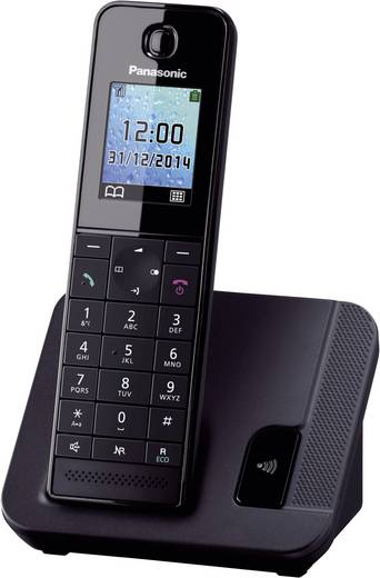 Schnurloses Telefon analog Panasonic KX-TGH210 Freisprechen Schwarz