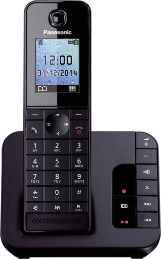 Schnurloses Telefon analog Panasonic KX-TGH220 Anrufbeantworter, Freisprechen Schwarz