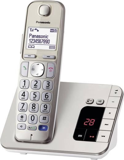 Schnurloses Seniorentelefon Panasonic KX-TGE220 Anrufbeantworter, Freisprechen Beleuchtetes Display Champagner