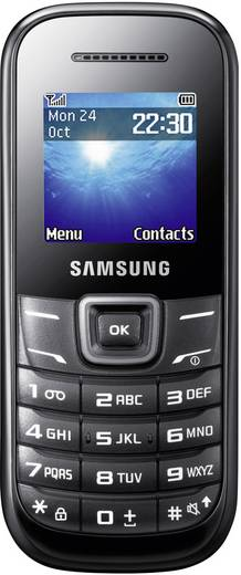 Samsung E1200I Handy 33 Tage Standby Schwarz