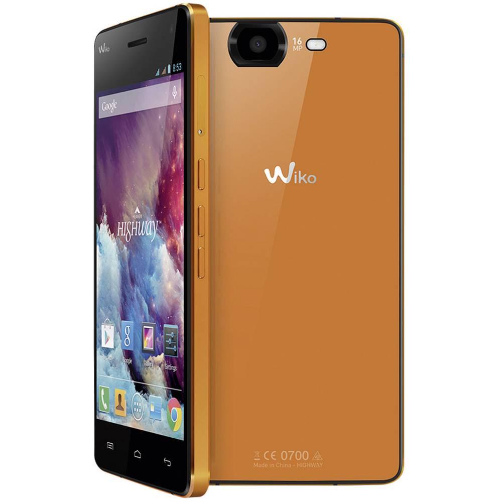 wiko highway dual sim smartphone 12 7 cm 5 octa core 16 gb 16 mpix android 4 2 2 orange im. Black Bedroom Furniture Sets. Home Design Ideas