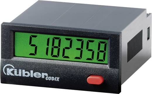 Kübler Impulszähler Codix 130 AC, Einbaumaße 45 x 22 mm, Hochspg. 10 - 260 V/AC/DC, 30 Hz