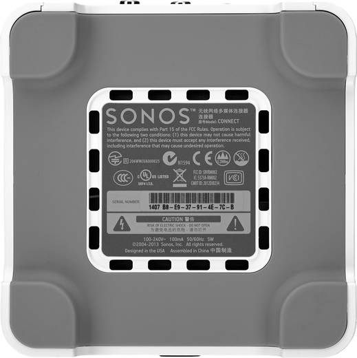 Multiroom Komponente Sonos CONNECT WLAN, LAN Weiß