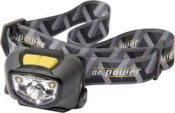 LED čelovka DP-802 De.power, DP-802AA, černá/šedá