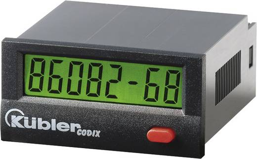 Kübler CODIX 134 Betriebsstundenzähler LCD, 99999h59m/ 99999.99 h, Optokoppler 10 - 260 V AC/DC