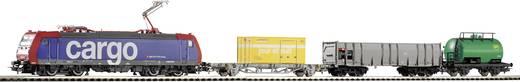 Piko H0 57187 H0 Start-Set E-Lok BR 185 der SBB + 3 Güterwagen