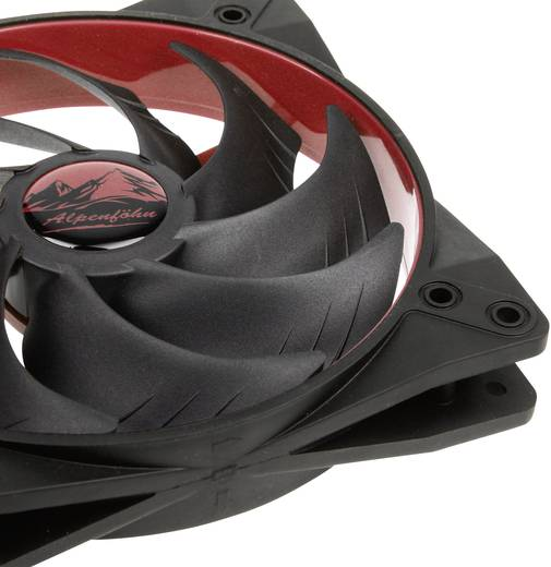 PC-Gehäuse-Lüfter EKL Alpenföhn LUAL-022 Rot (B x H x T) 140 x 140 x 25 mm