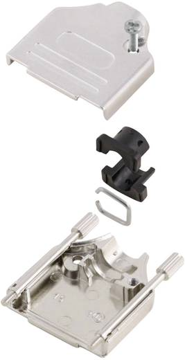 D-SUB Gehäuse Polzahl: 9 Metall 180 ° Silber MH Connectors MHDTZK9-K 1 St.