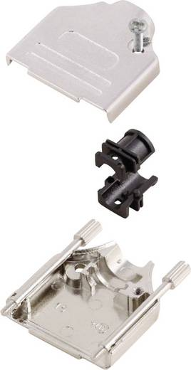 D-SUB Gehäuse Polzahl: 15 Metall 180 ° Silber MH Connectors MHDTZK15-RA-PC-K 1 St.