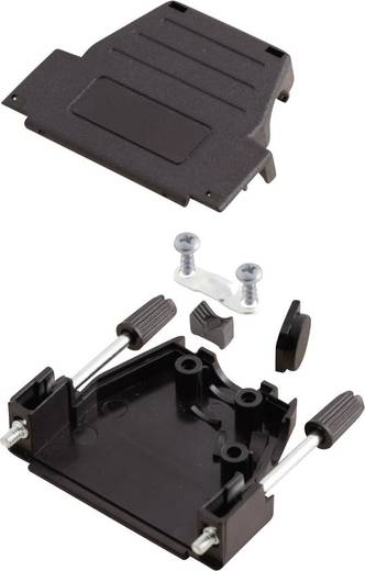 D-SUB Gehäuse Polzahl: 15 Kunststoff 180 °, 45 ° Schwarz MH Connectors MHDSSK-P-15-L-K 1 St.