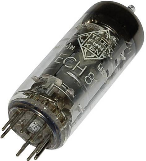 Elektronenröhre ECH 81 = 6 AJ 8 = 6I1P Triode-Heptode 100 V, 160 V 13.5 mA, 11 mA Polzahl: 9 Sockel: Noval Inhalt 1 St