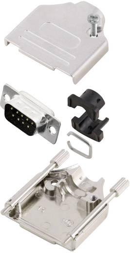 D-SUB Stiftleisten-Set 180 ° Polzahl: 9 Lötkelch MH Connectors MHDTZK9-DM9P-K 1 St.