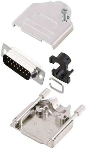 D-SUB Stiftleisten-Set 180 ° Polzahl: 15 Lötkelch MH Connectors MHDTZK15-DB15P-K 1 St.