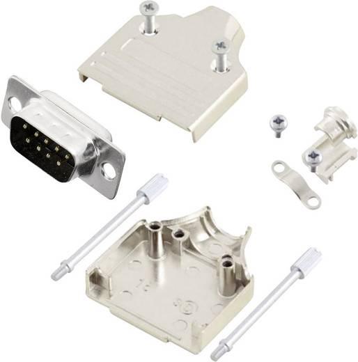 D-SUB Stiftleisten-Set 180 ° Polzahl: 9 Lötkelch MH Connectors MHDM9-DB9P-K 1 St.