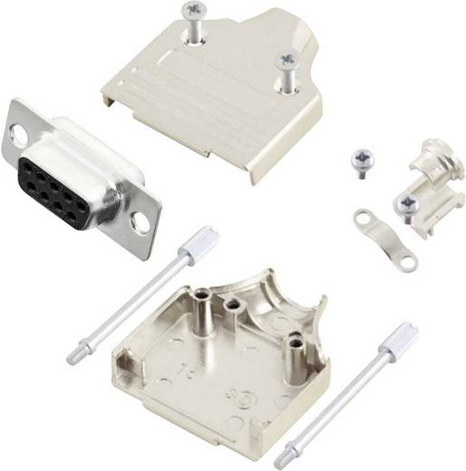 D-SUB Buchse 180 ° Polzahl: 9 Lötkelch MH Connectors MHDM9-DB9S-K 1 St.