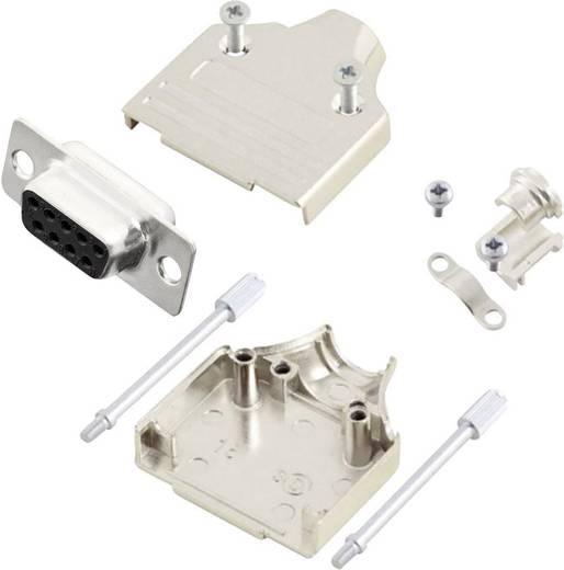 D-SUB Buchsenleisten-Set 180 ° Polzahl: 9 Lötkelch MH Connectors MHDM9-DM9S-K 1 St.