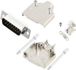 Kit SUB-D mâle 15 pôles MH Connectors MHDM15-DB15P-K 180 ° fût à souder 1 pc(s)