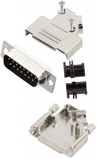 D-SUB Stiftleisten-Set 45 ° Polzahl: 15 Lötkelch MH Connectors MHD45ZK15-DB15P-K 1 St.