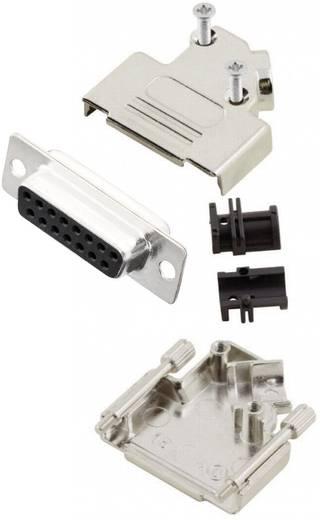 D-SUB Buchsenleisten-Set 45 ° Polzahl: 15 Lötkelch MH Connectors MHD45ZK15-DM15S-K 1 St.