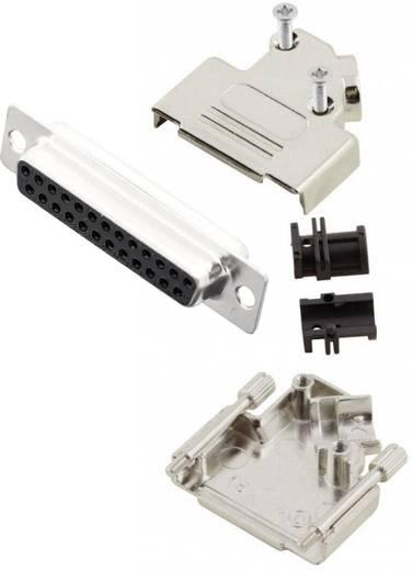 D-SUB Buchsenleisten-Set 45 ° Polzahl: 25 Lötkelch MH Connectors MHD45ZK25-DB25S-K 1 St.