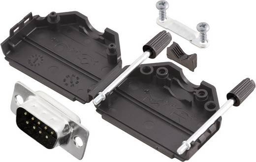 D-SUB Stiftleisten-Set 180 ° Polzahl: 9 Lötkelch MH Connectors MHDPPK9-DB9P-K 1 St.