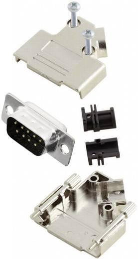 D-SUB Stiftleisten-Set 45 ° Polzahl: 9 Lötkelch MH Connectors MHD45PK9-DB9P-K 1 St.