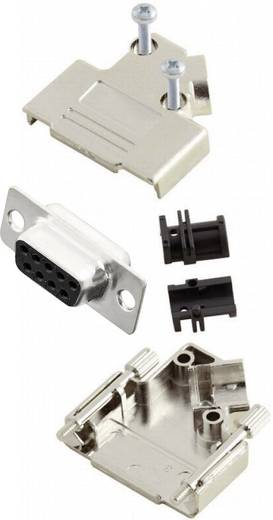 D-SUB Buchsenleisten-Set 45 ° Polzahl: 9 Lötkelch MH Connectors MHD45PK9-DB9S-K 1 St.