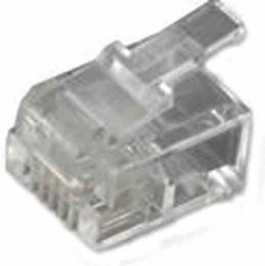 RJ11-Modularstecker Stecker, gerade Pole: 6P4C MHRJ126P4CR Transparent MH Connectors 6510-0104-03 1 St.