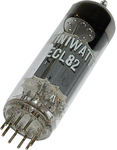 Elektronenröhre ECL 82 = 6 BM 8 Triode-Pentode 100 V, 170 V 3.5 mA, 41 mA Polzahl: 9 Sockel: Noval Inhalt 1 St.