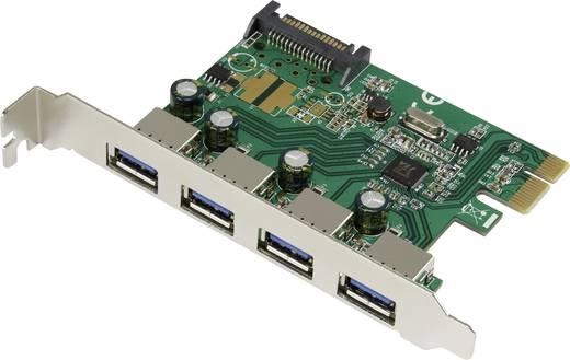 4 Port USB 3.0-Controllerkarte USB-A PCIe Renkforce
