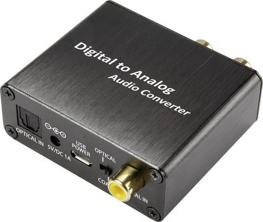 Audio Konverter [Toslink, Cinch-Digital - Cinch, Klinke] unidirektional SpeaKa Professional SP-DAC-TK/CK