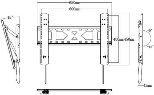 "SpeaKa Professional 1211126 TV-Wandhalterung 106,7 cm (42"") - 177,8 cm (70"") Neigbar"