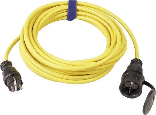 Strom Verlängerungskabel [ Schutzkontakt-Gummi-Stecker - Schutzkontakt-Gummi-Kupplung] 16 A Gelb 10 m SIROX 644.110.05