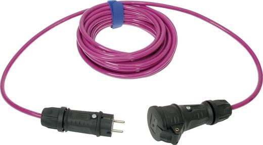 Strom Verlängerungskabel [ Schutzkontakt-Gummi-Stecker - Schutzkontakt-Gummi-Kupplung] 16 A Pink 10 m SIROX 649.010.18