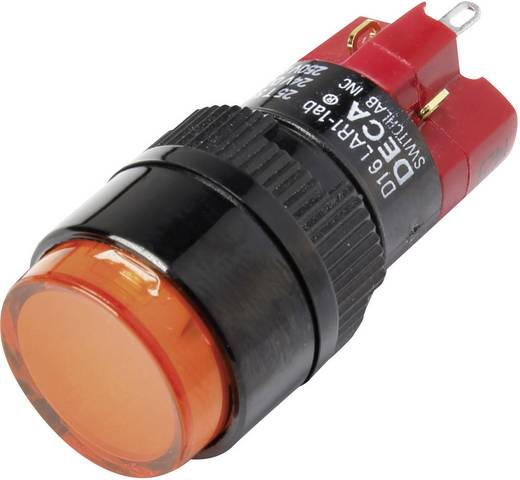 Druckschalter 250 V/AC 5 A 1 x Aus/Ein DECA D16LAR1-1abGO IP40 rastend 1 St.