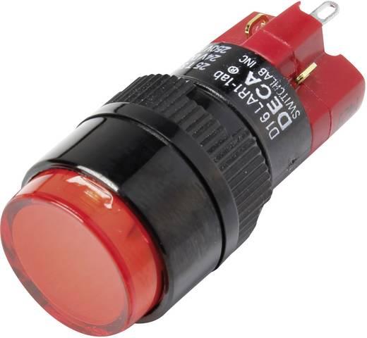 Druckschalter 250 V/AC 5 A 1 x Aus/Ein DECA D16LAR1-1abHR IP40 rastend 1 St.