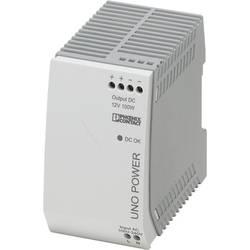 Sieťový zdroj na DIN lištu Phoenix Contact UNO-PS / 1 AC / 12 DC / 100 W 12 V / DC 8.3 A 100 W 1 x