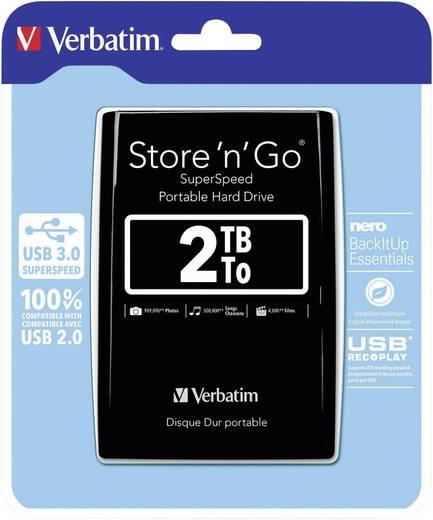 Externe Festplatte 6.35 cm (2.5 Zoll) 2 TB Verbatim Store´n´Go Schwarz USB 3.0