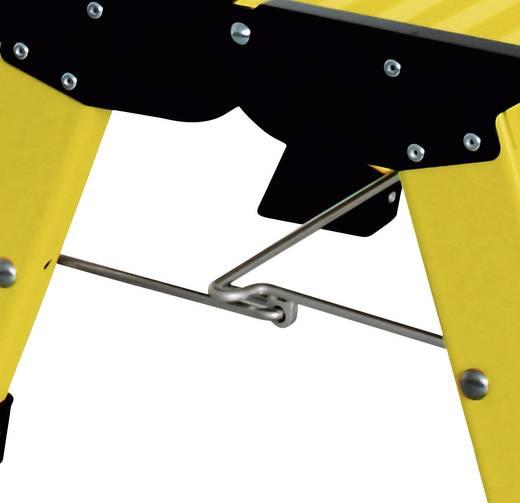 Aluminium Doppel-Klapptritt klappbar Arbeitshöhe (max.): 2.20 m Krause Treppy PlusLine 130334 Gelb 1.8 kg