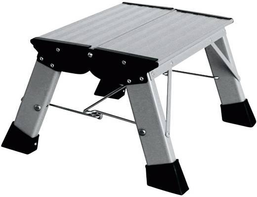 Aluminium Doppel-Klapptritt klappbar Arbeitshöhe (max.): 2.20 m Krause Treppy PlusLine 130327 Silber 1.8 kg