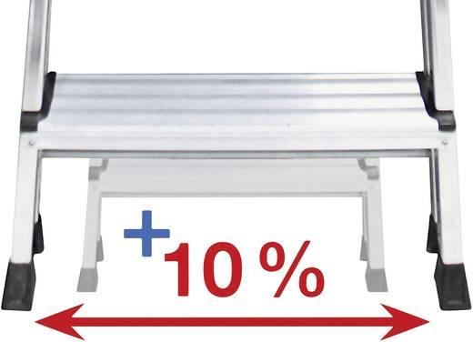 Aluminium Stufen-Stehleiter Arbeitshöhe (max.): 2.65 m Krause Safety 127914 Silber 4.6 kg